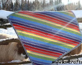 Rainbow in the Mist - Corner to Corner  Crochet Pattern - C2C Afghan - Pdf -  Instant Download