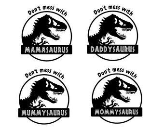 Mummysaurus, Daddysaurus, Mommasaurus, Mamasaurus SVG cut file