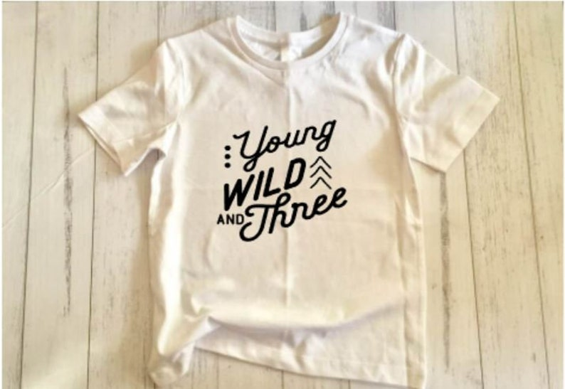 Young wild and three SVG cut file image 0