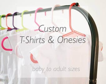 Custom t-shirt. Child's custom t-shirt. Personalise a t-shirt with your own text
