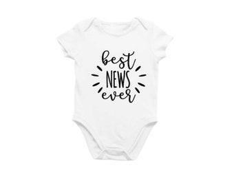 Best news ever SVG cut file, pregnancy announcement - baby announcement - new baby, best news ever