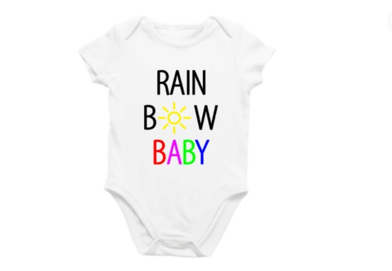 Rainbow Baby SVG cut file new baby pregnancy announcement  image 0
