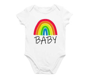 Rainbow Baby SVG cut file, new baby, pregnancy announcement - baby announcement - new baby