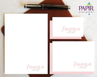 Custom Whimsical Feminine Stationery Gifts for Ladies Moms Girls Teens Teachers Personalized Monogrammed Notepad Note Memo Pad