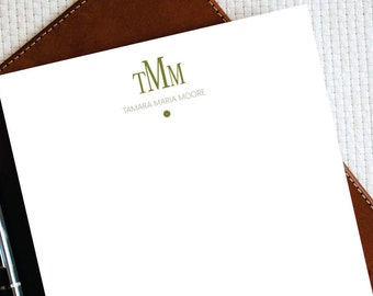 Custom Personalized Notepad, Note Pad, DOT MONOGRAM, Custom Notepad, Monogram Stationery, Wife Birthday Gift, Husband Birthday Gift, MNO005