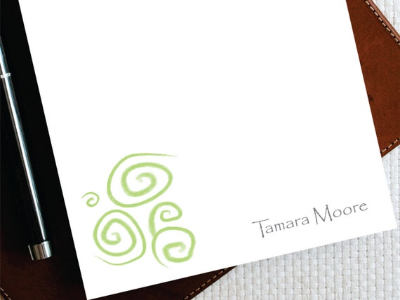 Swirls Notepads Personalized Double Pack