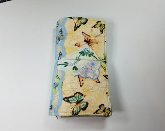 Standard Size Fabric Snippets Traveler's Notebook Cover