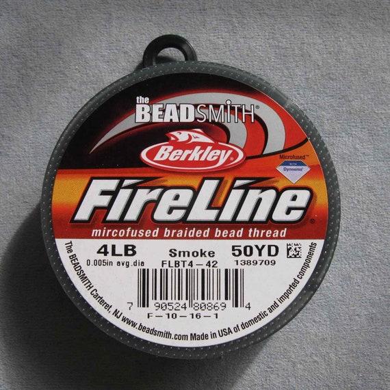 Crystal Beadsmith Fireline 4lb Test Beading Thread- 50 Yards