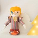 David Bowie doll, Handmade doll, Aladdin Sane, Ziggy Stardust, Cloth doll