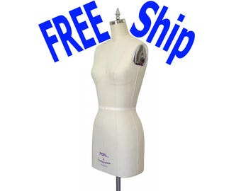 Professional Ladies Fitting Dress Form Mannequin 100% Aluminum Base* and Wheels with Lifetime Warranty on Base*