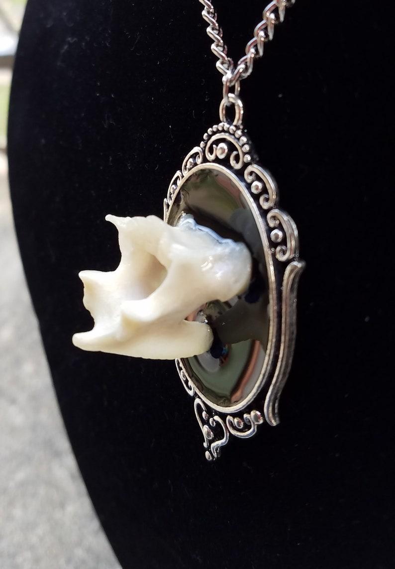 Fancy Bobcat Vertebra Necklace #6