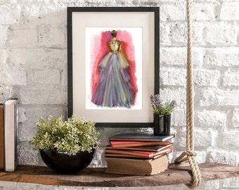 Inspired by Krikor Jabotian fashion art poster