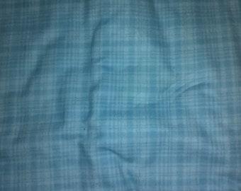 Blue Plaid Flannel Fabric