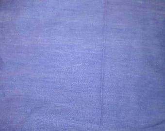 """VINTAGE Light Blue Chambray Cotton Blend Apparel Fabric 60"""" Wide"""