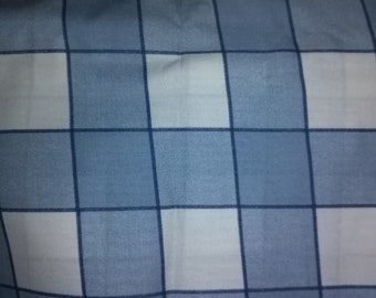 Blue Checked Cotton Fabric