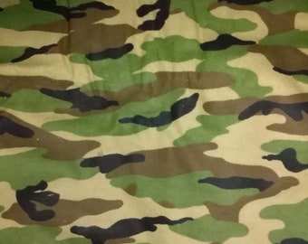 Camouflage Print Flannel Fabric