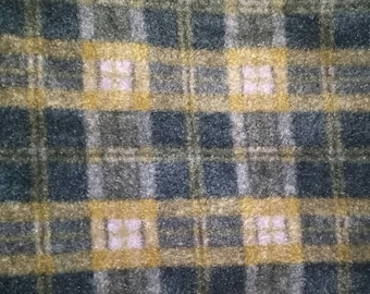 Green and Brown Plad Fleece Fabric