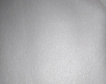 White Fleece Fabric