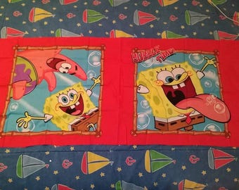 Sponge Bob Bubble time pillow panels