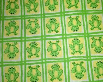 Green Frog Fabric
