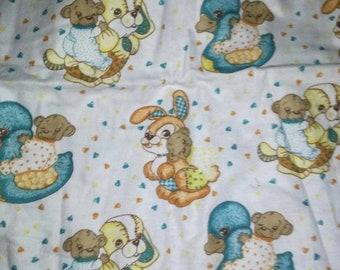 Baby Bunnies Flannel Fabric