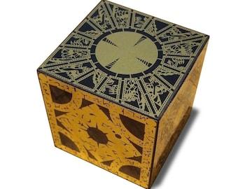 Hellraiser Puzzle Box Full Size Foil Face Solid Wood - Originator of the Foil Face Cubes