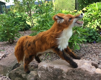 Needle felted fox...'walking in the garden'
