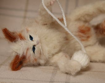 NOW SOLD..needle felted kitten