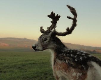 SOLD Needle felted reindeer
