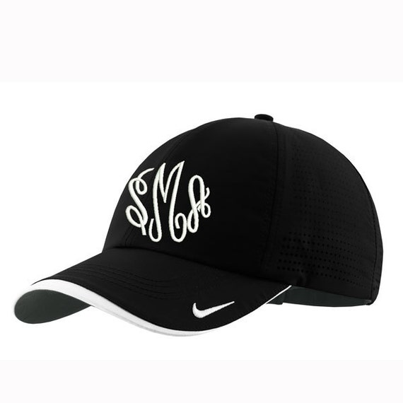 ab0f6ca6e36 Monogrammed Nike Dry-Fit Perforated Cap Black