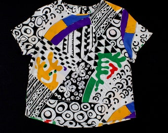 vintage abstract Blouse