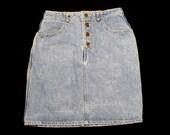 Vintage Women 39 s Georges Marciano Denim Skirt Sz 32