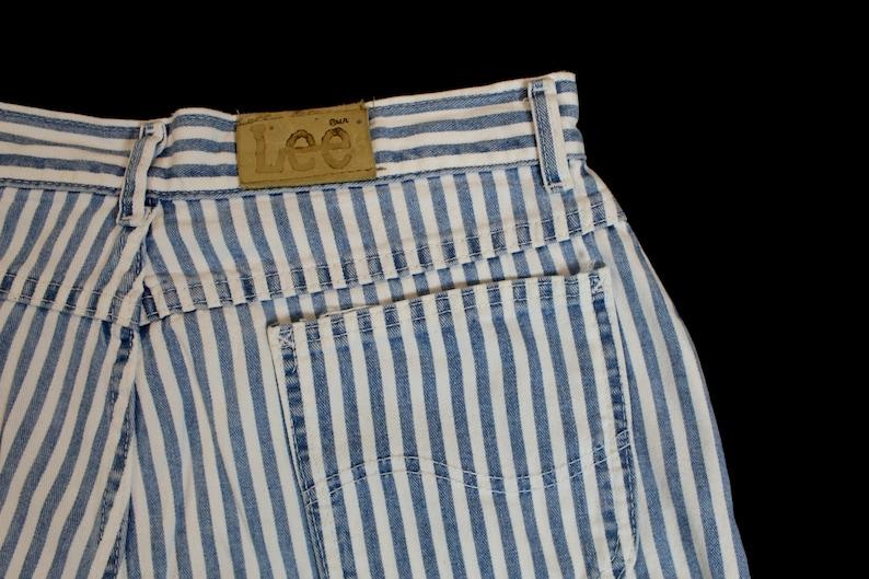 Vintage Lee Women/'s Stripped Jean Shorts...