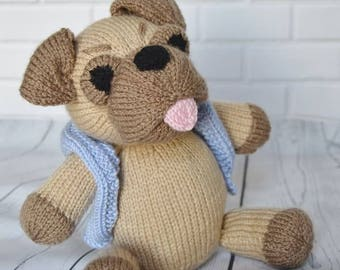 TOY KNITTING PATTERN - Pug Soft Toy Dog Knitting Pattern Download From  Knitting by Post. Pdf download 9f65ddfe69