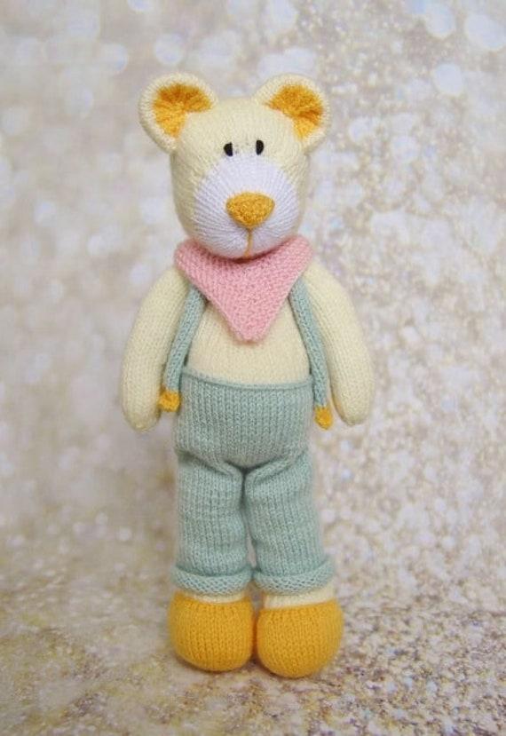 "35cm TALL EASY DK TEDDY BEAR  BABY CHILD/'S TOY 13/"" CROCHET PATTERN"