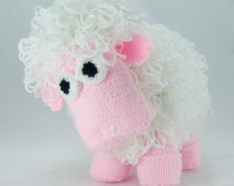 KNITTING PATTERN - Curly the Sheep Soft Toy Knitting Pattern Download From Knitting by Post