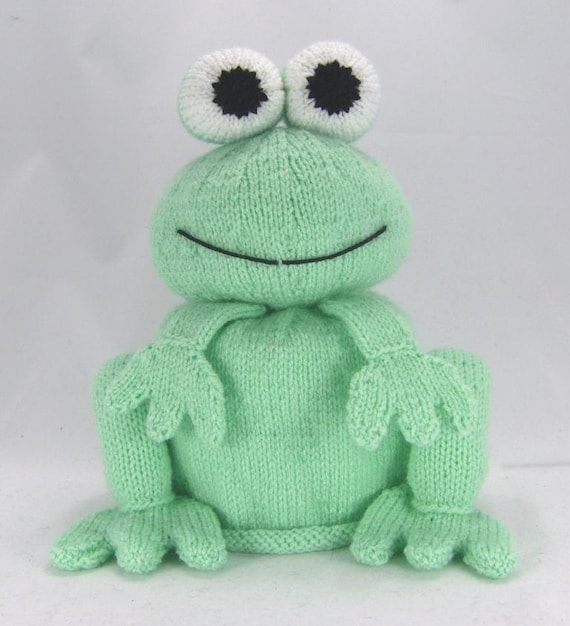 KNITTING PATTERN - The Bog Frog Toilet Roll Cover Knitting Pattern ...