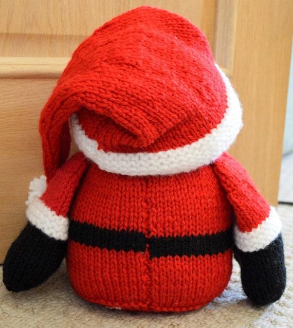 Santa Doorstop Knitting Pattern