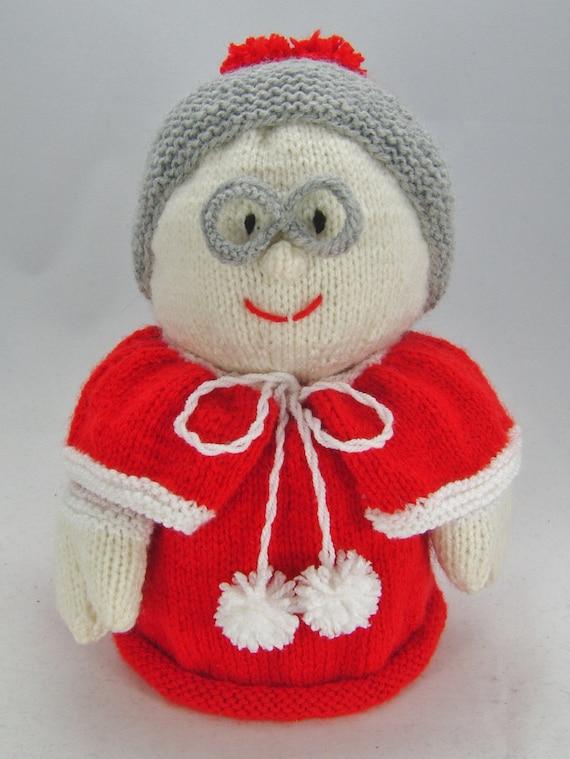 KNITTING PATTERN Mrs Santa Toilet Roll Cover Knitting | Etsy