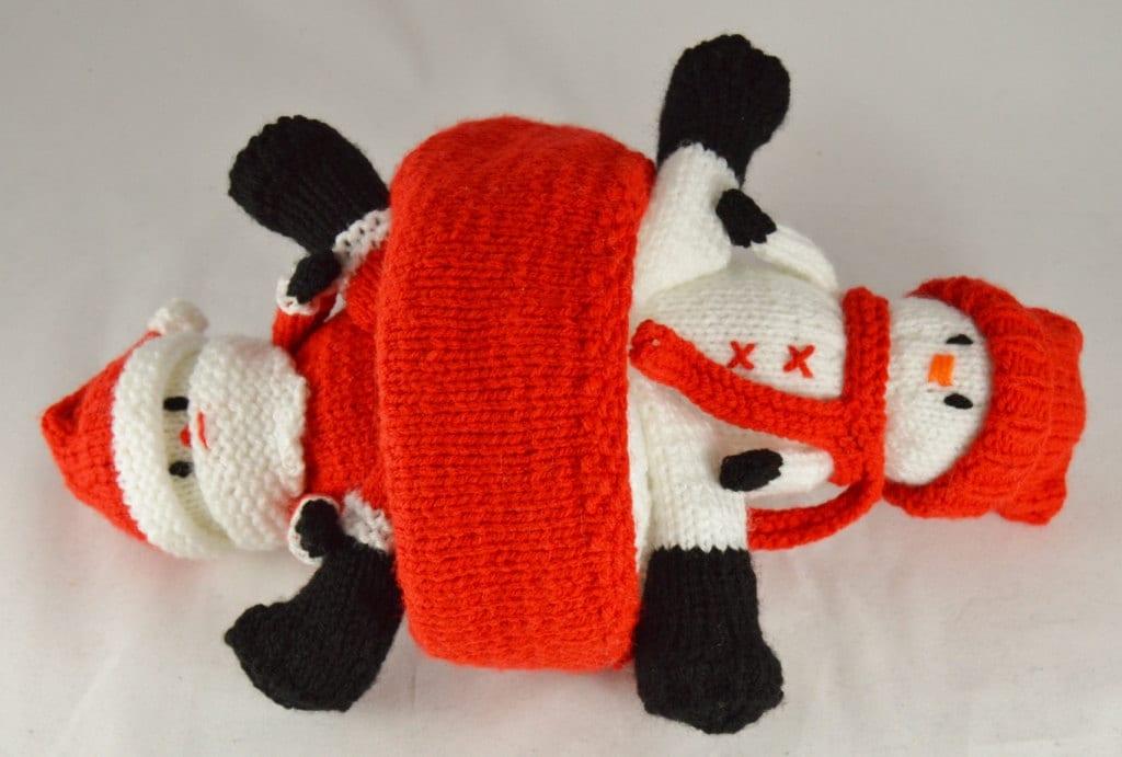 Knitting Pattern Santa And Snowman Topsy Dolly Knitting Etsy