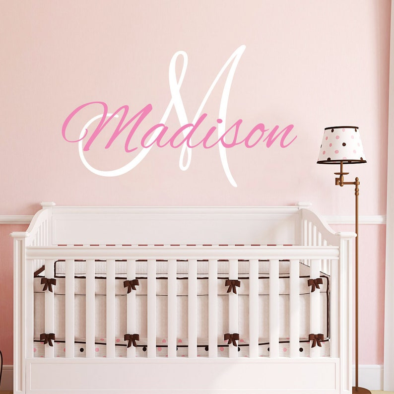 Personalized Name Wall Decal Girl / Baby Girl Name Nursery | Etsy