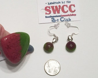 Glass Bead Ring and Earring Set