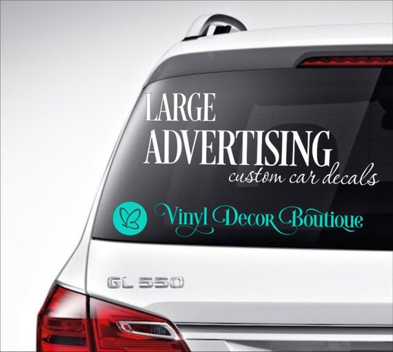 Large advertising custom car decal vinyl lettering bumper