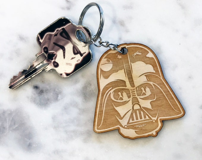 Star Wars Keychain Special Large keychain Space Days Wooden Keychain For Kids Engraved keychain