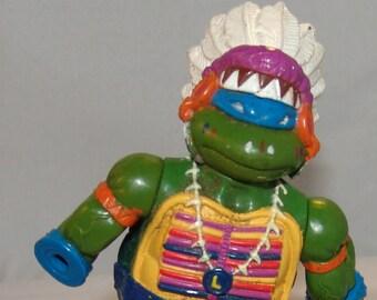 Teenage Mutant Ninja Turtles Toy Action Figure 1992 Mirage Playmates Indian TMNT Chief