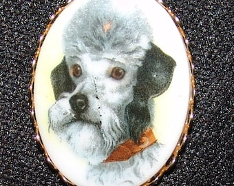 Poodle Pin Brooch Vtg Vintage Dog Jewelry