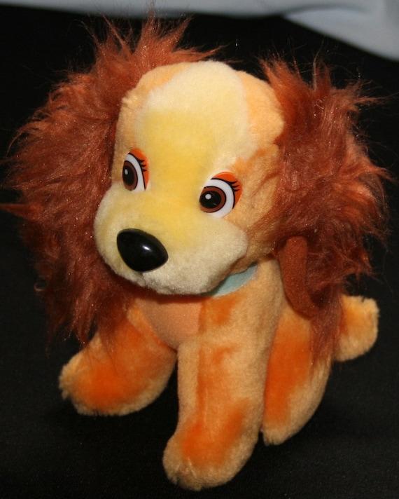 Walt Disney Lady And The Tramp Plush Dog Toy 7 Stuffed Etsy