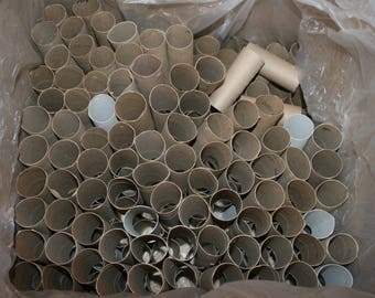 HUGE Lot Cardboard Tubes 250 pcs Toilet Paper Towel Crafts Clean School Art Variety
