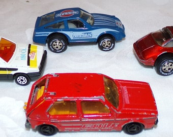 Vtg Matchbox Style Cars Majorette Renault 11 Racing Porsche Golf Darda Nissan Toy Cars Collectible Collector Display Fathers Day Die Cast