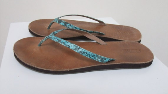 Bridal Sandals Turquoise Slip Beach Boho Flip Flops Bohemian Thongs Teal Leather Casual Chic Sandals Disco Toe On Sandals Style twAXwUzxq